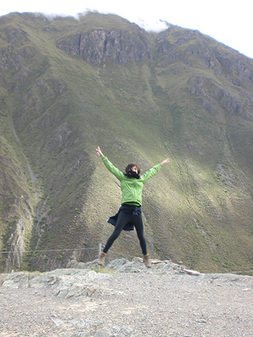 Jumping around the Sacred Valley, Peru