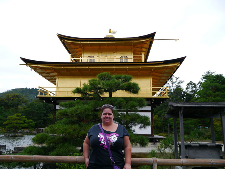 At the Golden Pavilion in Kyoto, Japan