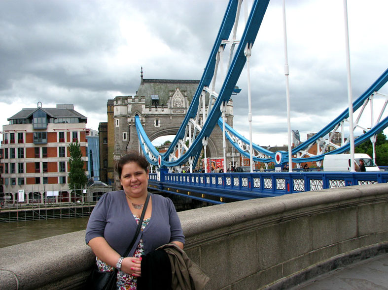 On Tower Bridge in London