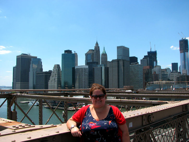 On the Brooklyn Bridge, NYC