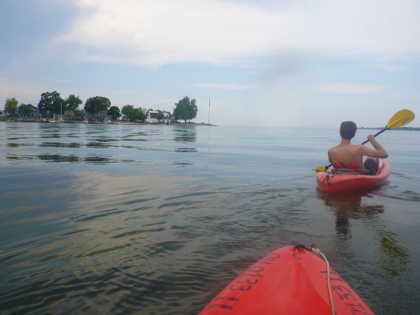 Justin Plus Lauren Kayaking in Put-in-Bay, OH