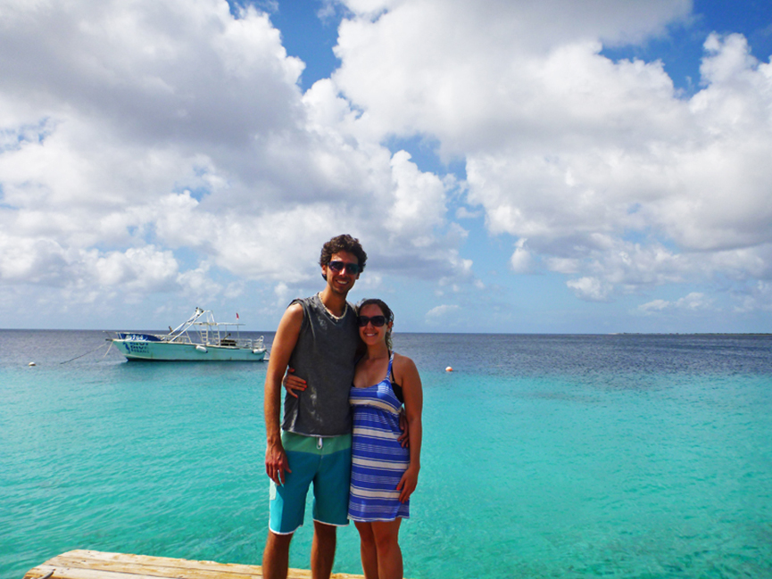 Justin Plus Lauren in Bonaire, Caribbean