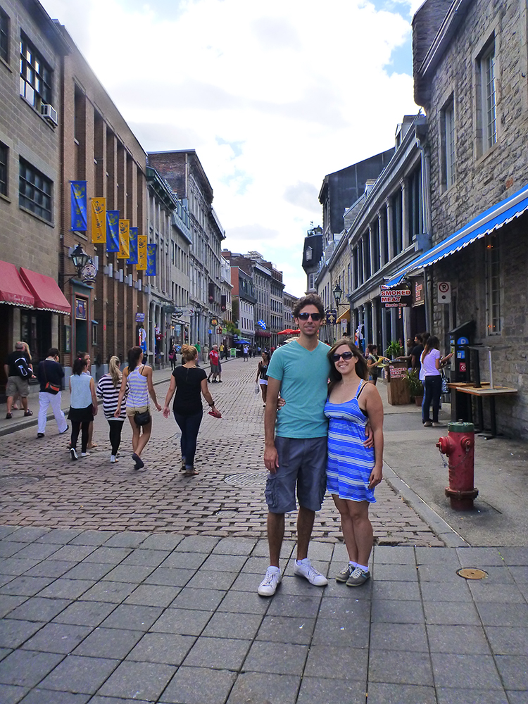 Justin Plus Lauren in Old Montreal, Quebec