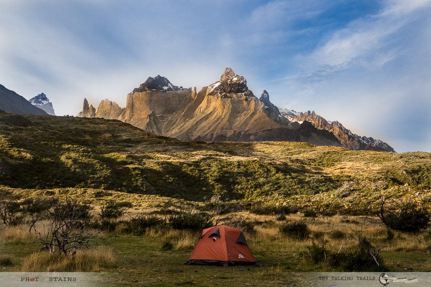 Campsite at Paine Grande by TheTalkingTrails